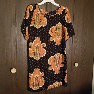 Dresses & Skirts - Black/Orange paisley dress